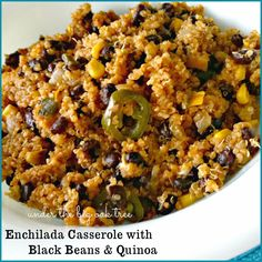 Weight Watchers Friendly, Enchilada Casserole with black beans and Quinoa  PointsPlus Value 7 points!