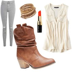 Untitled #1 by kathryn-kc on Polyvore featuring polyvore fashion style American Eagle Outfitters J Brand Wet Seal Chan Luu Bobbi Brown Cosmetics
