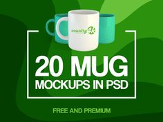 20 Free and Premium Mug MockUps in PSD designed by Connect with them on Dribbble; Le Web, Christmas Inspiration, Mockup, Mugs, Free, Mug, Scale Model