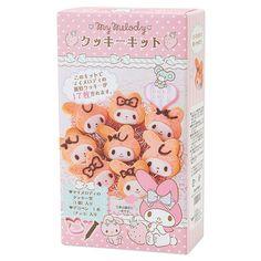 Rakuten My Melody simple face-shaped cookie kit: Sanrio online shop 918 Yen