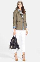 Hinge Canvas Jacket, Treasure&Bond Denim Shirt, Skinny Jeans & Soft Joie Long Sleeve Top