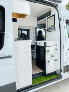 Our Van Quest Van Conversion Plans, Van Conversion Interior, Sprinter Van Conversion, Cargo Trailer Camper Conversion, Camper Van Conversion Diy, Motorhome Sprinter, Minivan Camping, Rv Camping, Camper Van Shower