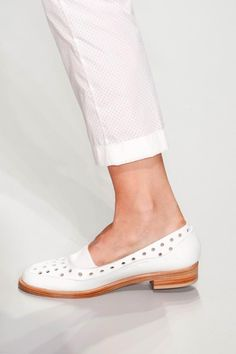 Hot white Oxford loafers