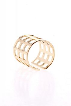 Gold Hollow-out Metal Ring