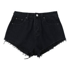 Denim Cutoffs Mini Shorts Black S (68 BRL) ❤ liked on Polyvore featuring shorts, bottoms, hot cut off shorts, short shorts, micro denim shorts, denim shorts and short denim shorts