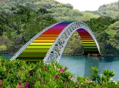 Rainbow Bridge - Bridges & Architecture Background Wallpapers on ...