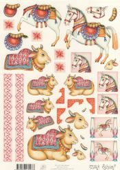 Indian Decorated Cow decoupage kit - a must for every serious student of the beautified cow.