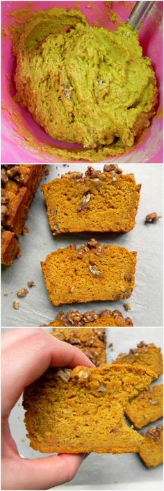 This #HEALTHY Pumpkin Bread with Maple Pecan Crumble is soft, fluffy, moist & perfectly spiced with nutmeg, ginger and cinnamon. Refined Sugar Free & #VEGAN! -Ceara's Kitchen
