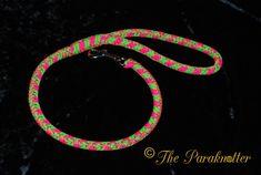 "New short leash for ""Bindi"". (8 strand round braid)  #Paraknotter…"