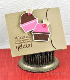 Gelato Gift Card Holder by Dawn McVey for Papertrey Ink (August 2012)