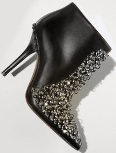 Vera Wang Lavender Beacon Jeweled Leather Bootie | Purely Inspiration