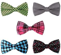 BMC 5 pc Mens Mixed Color Assorted Pattern Pre-Tied Adjustable Neck Tie Bowties Set of 5 handmade pre-tied double bow ties. Ties are adjustable to fit a wide Best Stocking Stuffers, Christmas Stocking Stuffers, Bow Tie Noodles, Designer Bow Ties, Formal Tie, Summer Art Projects, Butterfly Crafts, Pattern Mixing, How To Make Bows