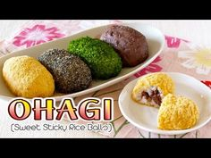 Create Eat Happy :): Ohagi / Botamochi (Japanese Sweet Sticky Rice Balls) - Video Recipe