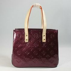 Designer Lv Monogram Vernis Leather Handbags Purple M91993