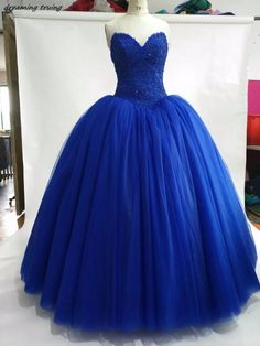 9cde54933c5 Real Picture Ball Gowns Royal Blue Quinceanera Dresses 2018 Beading Puffy  Girls Brithday Prom Party Dress Vestidos-De-15-Anos. Yesterday s price  US   259.00 ...