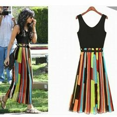 Mulicolour maxi dress Mail:wowclothing18@gmail.com  Whatsapp on: 8097887289