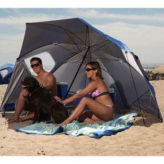 Umbrella Beach Portable Sun Wind SPF UVB Protect Skin Weather Shelter Rain BLUE #UmbrellaBeachPortable
