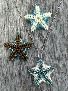 This is a beaded starfish pendant designed by Kelly Dale from Off the Beaded Path. Her You Tube tutorial is excellent!!!