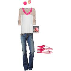 pink, created by sylvia-martinez on Polyvore