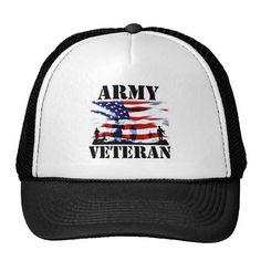 USA Army Veteran Trucker Hat. GET IT ON : http://www.zazzle.com/usa_army_veteran_trucker_hat-148069519668232280?rf=238054403704815742