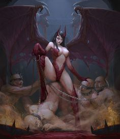 Succubus, artstudio0618 BC on ArtStation at https://www.artstation.com/artwork/Lkylv