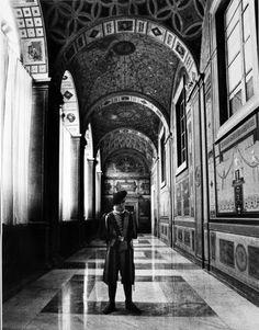 The entrance to the Borgia Apartments at the Apostolic Palace ~ Vatican