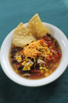 Freezer Cooking Club: CHICKEN TORTILLA SOUP. I always have beans.