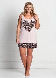 plus size simply vera vera wang pajamas: spring petals sleep shirt