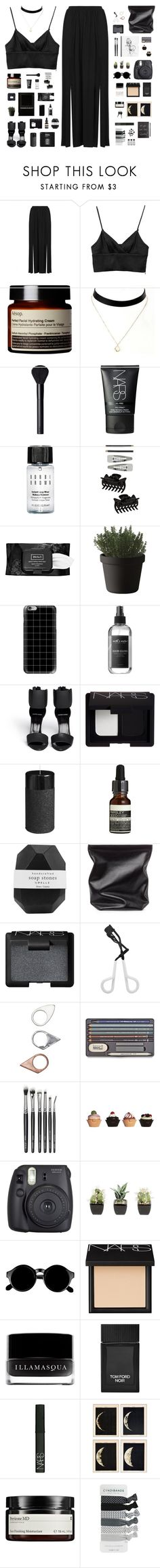 """Lee Hyori - Black"" by nut-and-nude ❤ liked on Polyvore featuring Topshop, Monki, Aesop, NARS Cosmetics, Bobbi Brown Cosmetics, Dorothy Perkins, Kat Von D, Muuto, Casetify and Earth's Nectar"