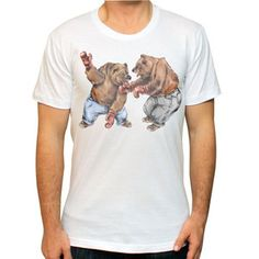 Bear Fight Tee now featured on Fab.