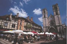 The gothic cathedral, in the heart of Chalon-sur-Saone