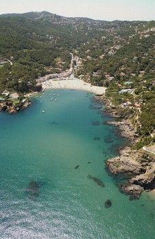 Sa Riera Cove in Costa Brava. Begur. Girona province. Catalonia.