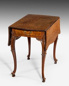 Carved 18th century Fustic mahogany Chippendale Pembroke table, Circa 1760. Exhibitor: Anthony Fell Antiques & Works of Art Ltd - The Art & Antiques Fair Olympia