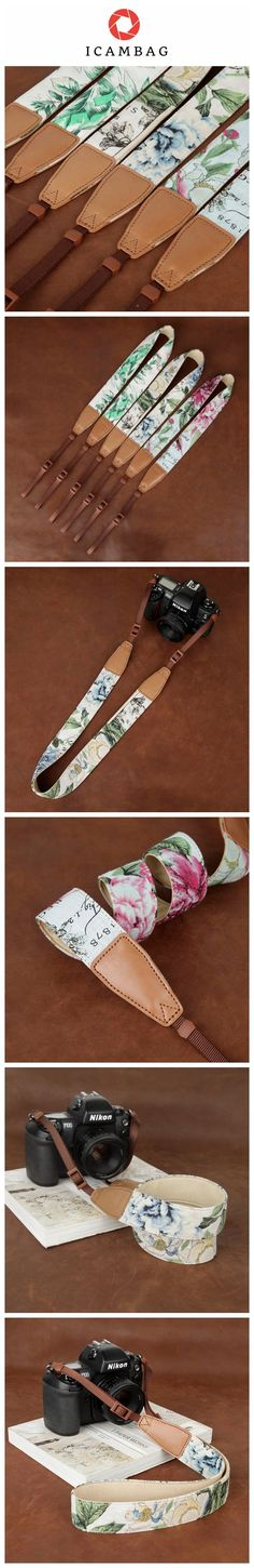 Flower China Style Handmade Leather DSLR Camera Strap CS235 Handmade with top layer cow leather and denim. It can fit almost every DSLR, SLR and some larger digital cameras. **************************