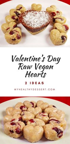 Valentine's Day Raw Vegan Hearts
