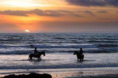 Horse Riding on Annestown Beach on the Copper Coast Geopark