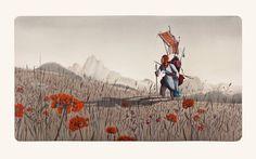 Rébecca Dautremer - Jean dans les champs | Oeuvres | Galerie Robillard