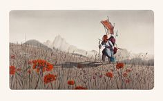 Rébecca Dautremer - Jean dans les champs   Oeuvres   Galerie Robillard