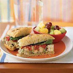 How To Make Pesto Chicken Salad Sandwiches Recipe