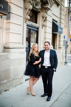 Classy Downtown Engagement with Handmade Black Tulle Skirt Vancouver Wedding Photographer, Engagement Photos, Tulle, Classy, Hair Styles, Skirts, Handmade, Photography, Black