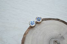 Free shipping.  Earrings with real flowers от AnastasiaGolubova