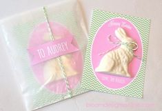 DIY chocolate Easter bunny cards + free printable  {Bloom Designs}