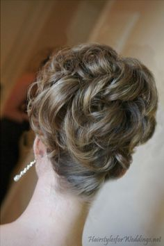 bridesmaid hair | Wedding Updos for Medium Length Hair | Hairstyles for Weddings