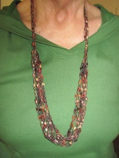 Ladder Yarns Necklaces Free Pattern | yarn necklace submitted by marty wyatt the yarn is hard to find in ...