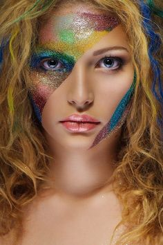 Tatyana Zolotashko #fantasy #makeup I'd love to do this for a parade... totally cool stuff