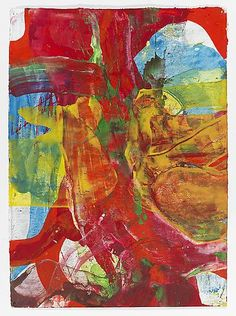 Bill Jensen, WITH COLOR XIII 2009,  Egg and oil tempera on paper, 20 1/4 x 15 inches, 51.4 x 38.1 centimeters