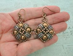 Linda's Crafty Inspirations: Tara Earrings - Milky Amethyst & Bronze