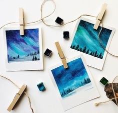 I use this project as a early finisher project and my students love it! I use this project as a early finisher project and my students love it! Prima Watercolor, Watercolour Painting, Painting & Drawing, Watercolor Brushes, Small Canvas Art, Mini Canvas Art, Art Mini Toile, Aesthetic Painting, Galaxy Painting