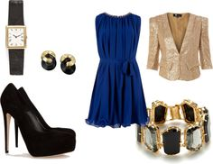 """""""Blue and Gold is Perfect Couple"""" by trendlover-804 on Polyvore"""