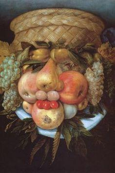 Tête à la Corbeille de Fruits, par Giuseppe Arcimboldo
